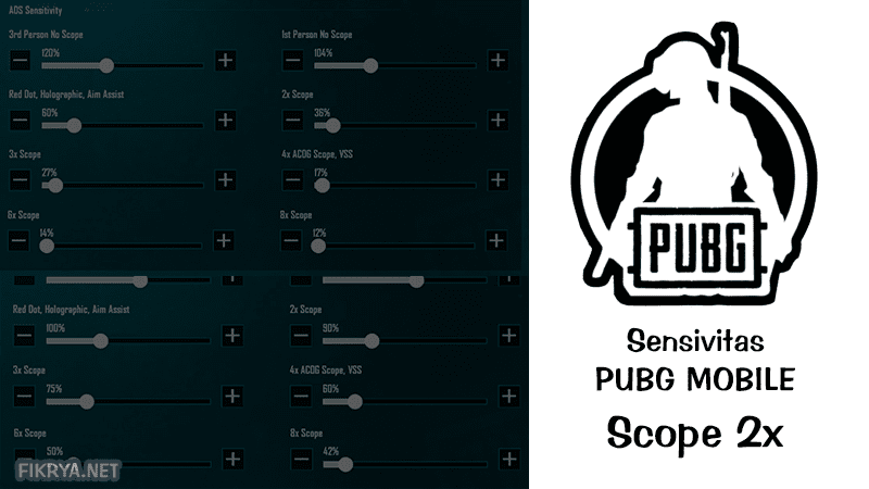 Sensivitas pubg mobile scope 2x