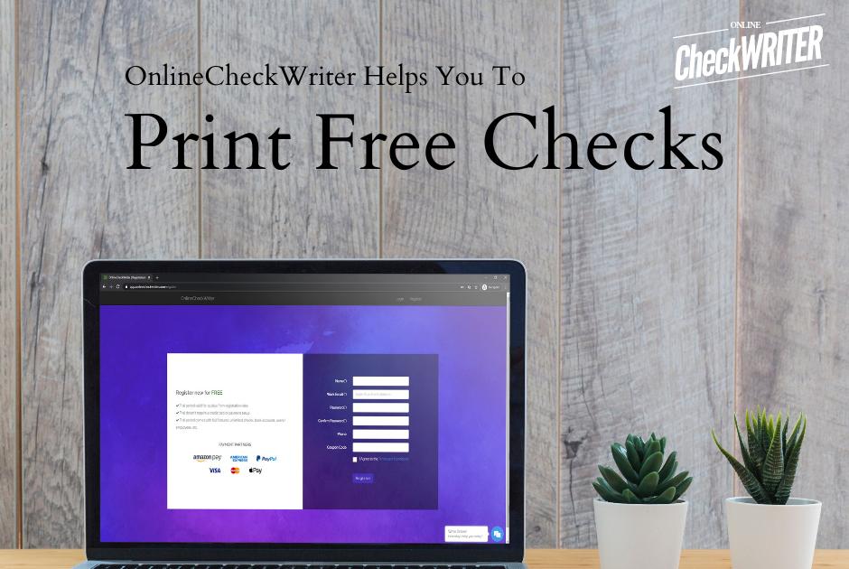 print checks online free