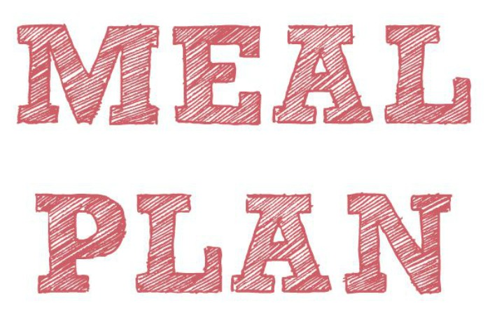 Meal Plan 31st October - 6th November 2016