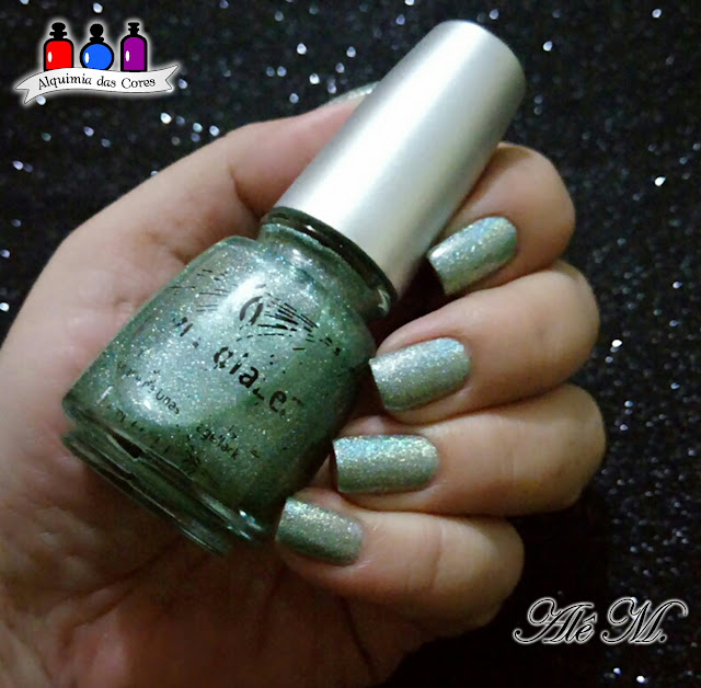 He's Going in Circles, China Glaze, Holo, Kaleidoscope, Gussied up green, Rodeo Diva