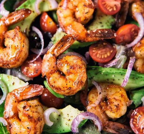TACO LIME SHRIMP SALAD #vegetarian #seafood