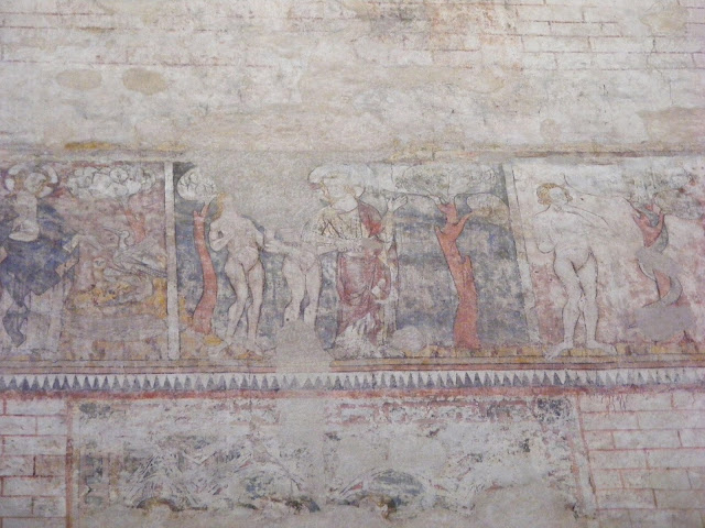 Creation story wall painting in the Cathedral, Cahors, Lot, France. Photo by Loire Valley Time Travel.