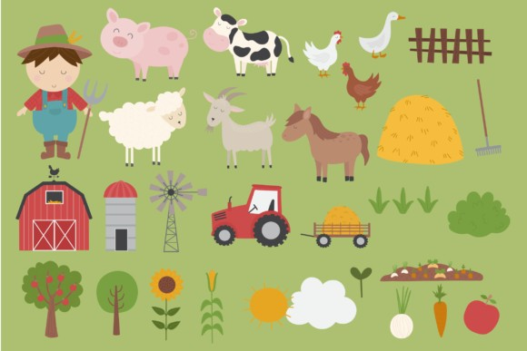 Farm Yard Clipart Graphics