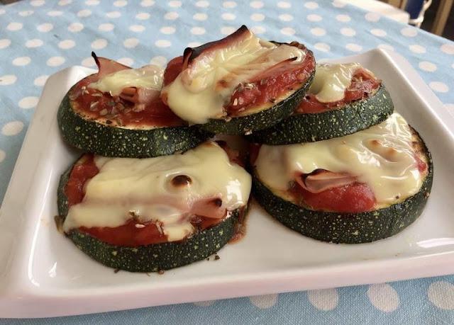 Mini pizzas de calabacín