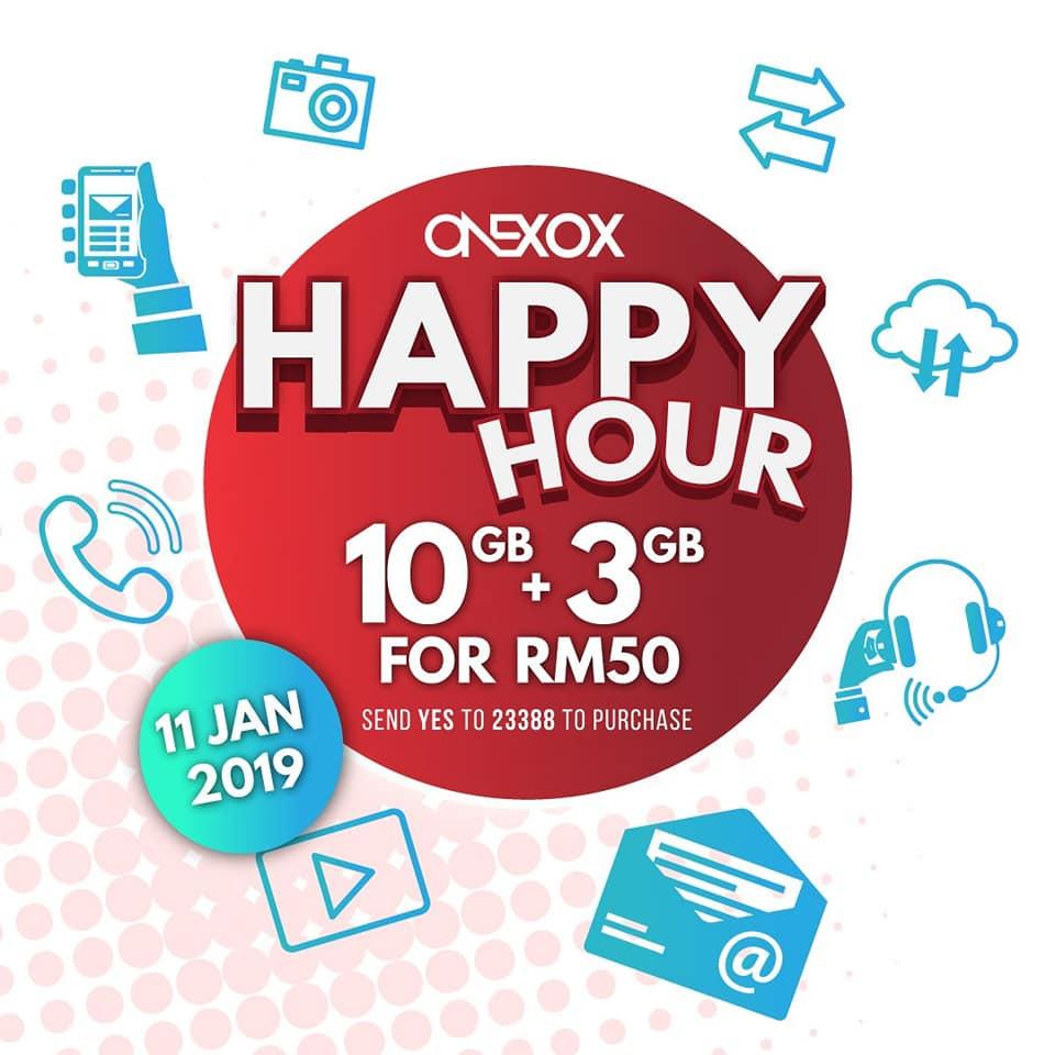 Happy hour Onexox hari ini