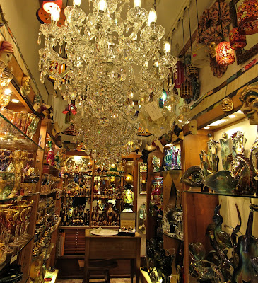 Shopping in a Venetian glass shop