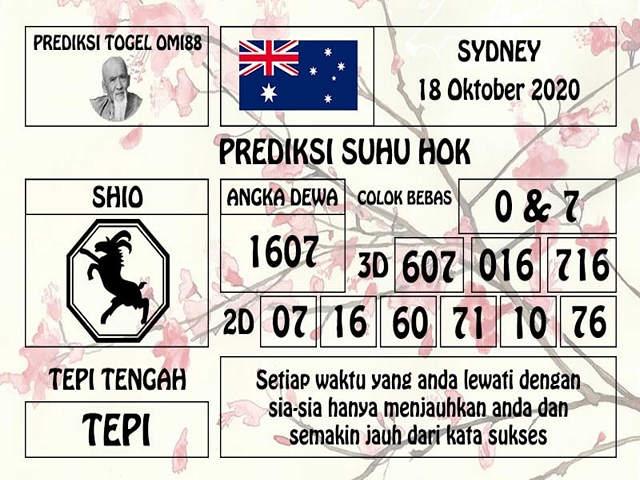 Kode syair Sydney Minggu 18 Oktober 2020 190