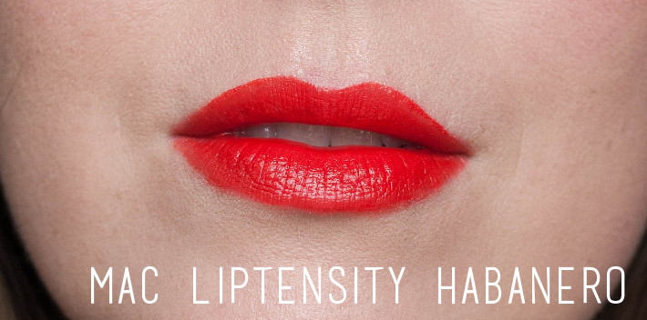 Beauty: MAC Liptensity habanero review