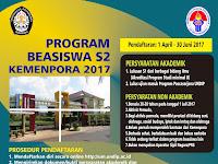 BEASISWA S2 (Ilmu Ekonomi dan Studi Pembangunan) KEMENPORA 2017-2018