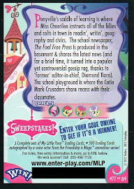 My Little Pony Ponyville Schoolhouse Series 1 Trading Card