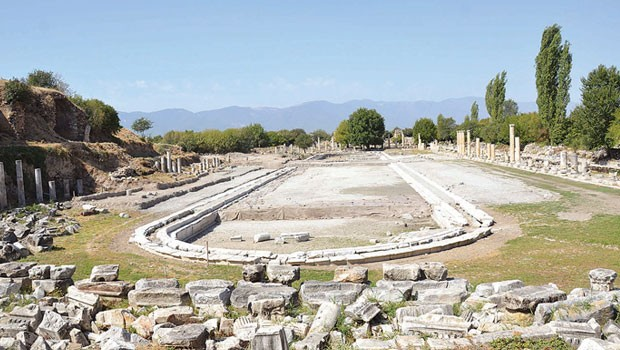 Giant pool at Aphrodisias comes to light