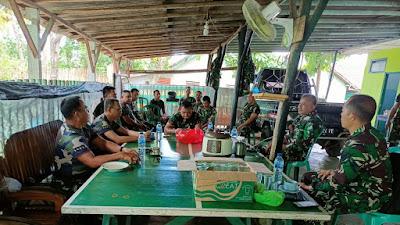 Danramil 427-06/baradatu Kapt Arh Sulaiman memberikan  pengarahan dan ramah tamah kepada anggota di makoramil 06/Baradatu