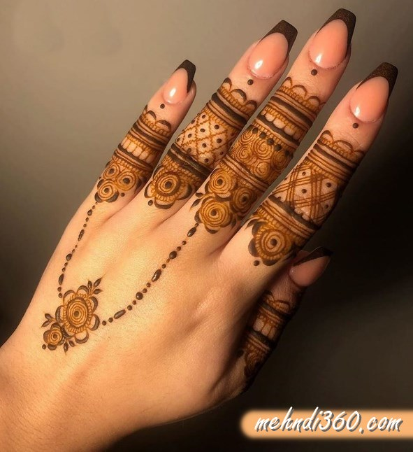 Jewellery Mehndi Design Back Hand