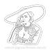 Lady Dimitrescu Phone Call Resident Evil Village RE8 Sticker para Colorir