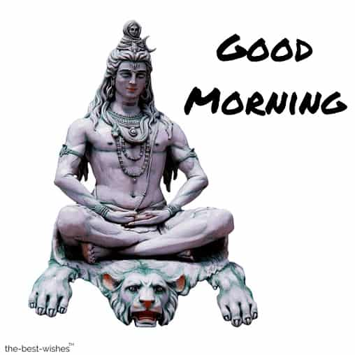 good morning with shiva the hindu god image