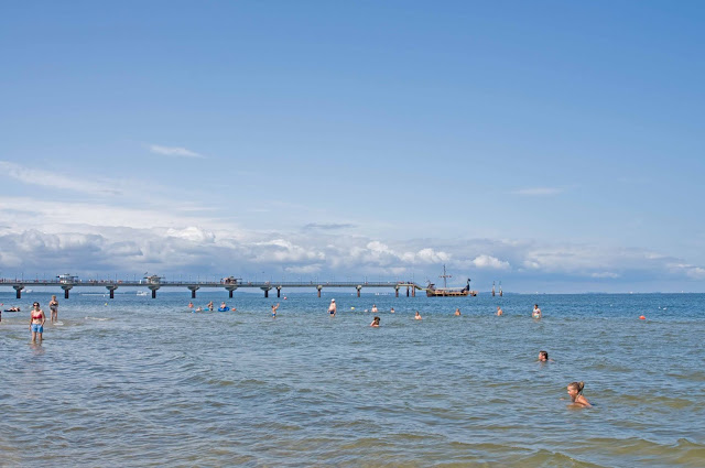 molo Międzyzdroje widok z plaży