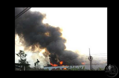 Pabrik mebel milik Presiden Joko Widodo di Sragen, Jawa Tengah, terbakar