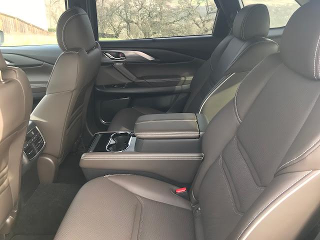 Rear seat in 2020 Mazda CX-9 Signature AWD
