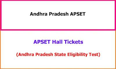 APSET Hall Tickets