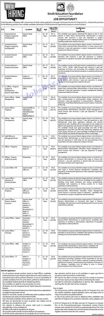sindh-education-foundation-sef-jobs-2021-apply-online