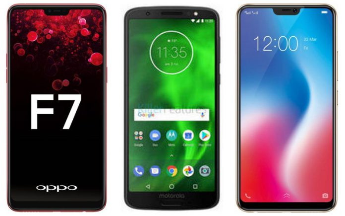 Vivo V9 vs Oppo F7 vs Moto G6 Plus: Price in India, Specifications, Features compared