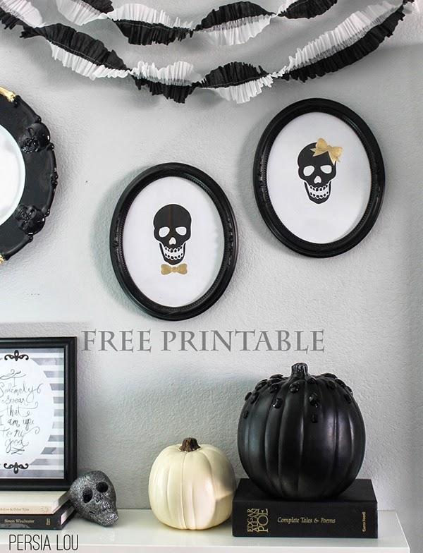 Free Printable Skull Silouhettes