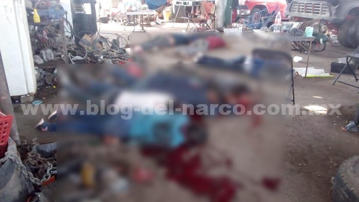 Grupo Elite del CJNG irrumpe en Yonke El Guero, sobre carretera Celaya-Salvatierra y ejecuta a 7 personas