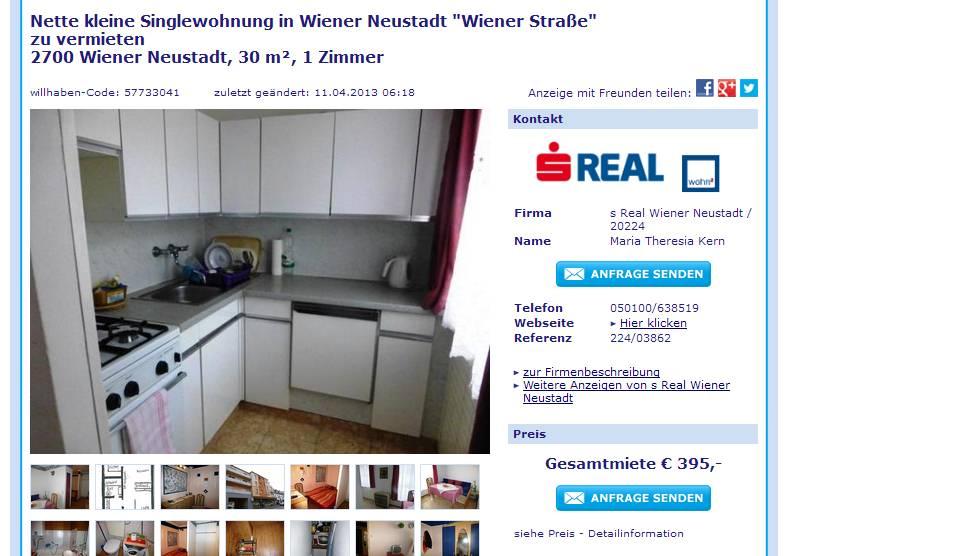 Single wohnungen wiener neustadt