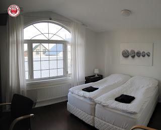 Nuestra habitación en el hotel A10 de Keflavik