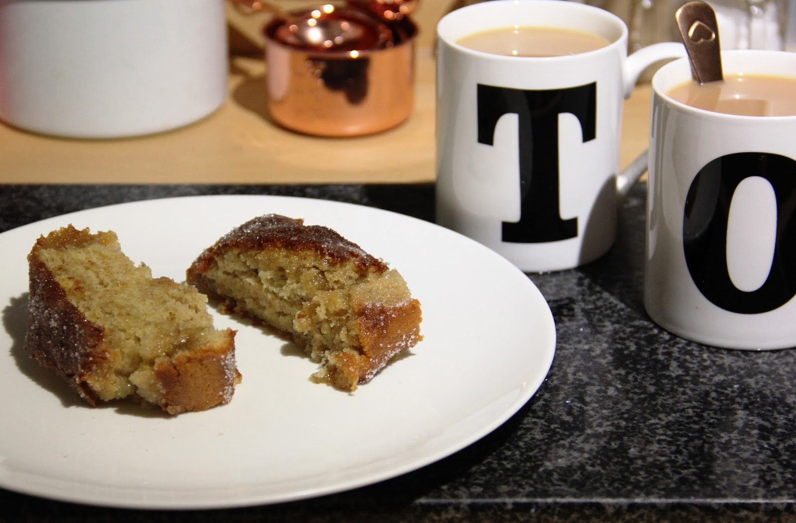 It's best whilst it's still warm! (and yes, we do have mugs with our initials on)