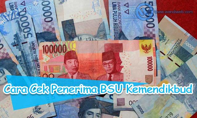 Cara cek penerima BSU Kemendikbud 2020 - www.wandiweb.com