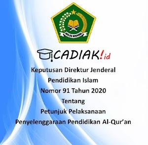 Download Juknis Penyelenggaraan Pendidikan Al-Quran No 91 tahun 2020 (TPQ)