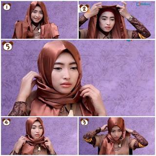 Cara Hijab Segi Empat Elegan