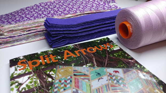 prepping to make a Split Arrows chevron quilt