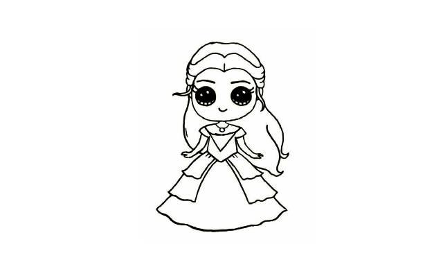 dibujos faciles de princesas disney kawaii para dibujar y colorear