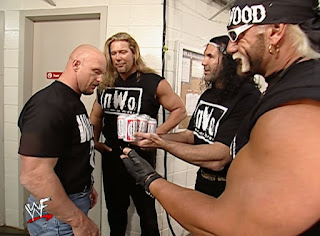 WWE / WWF No Way Out 2002 - The nWo offer Steve Austin a beer