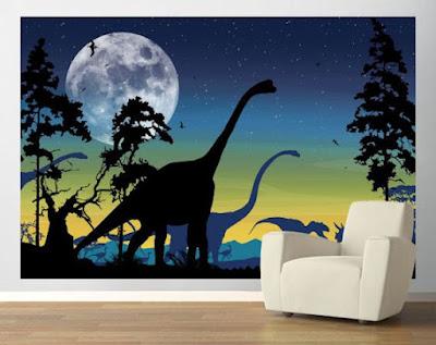 easy up barntapet dinosaurie fototapet brontosaurus