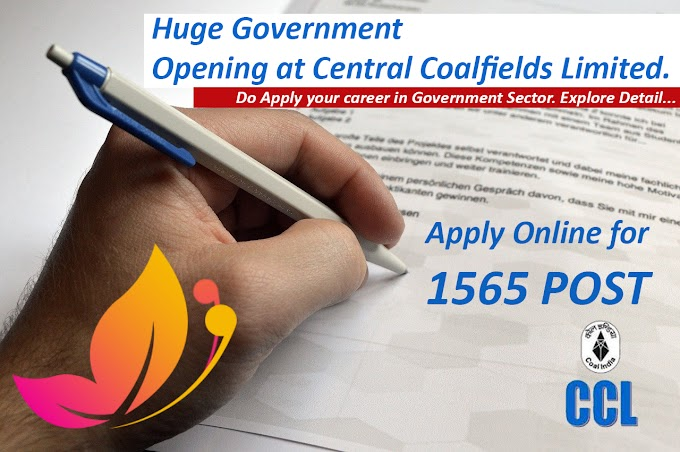 Huge Opening at Central Coalfields Limited | Apply Online for 1565 Trade Apprentice Posts.