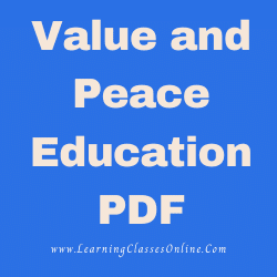 alue and Peace Education PDF download free in English Medium Language for B.Ed and all courses students, college, universities, and teachers