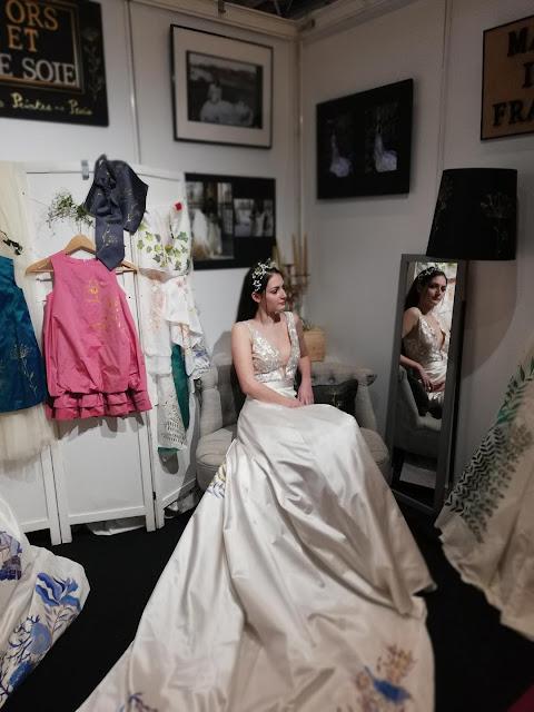 Les robes de mariées peintes à la main
