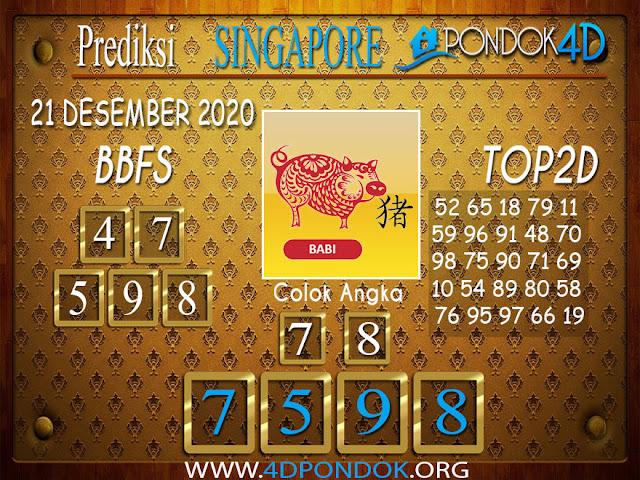 Prediksi Togel SINGAPORE PONDOK4D 21 DESEMBER 2020