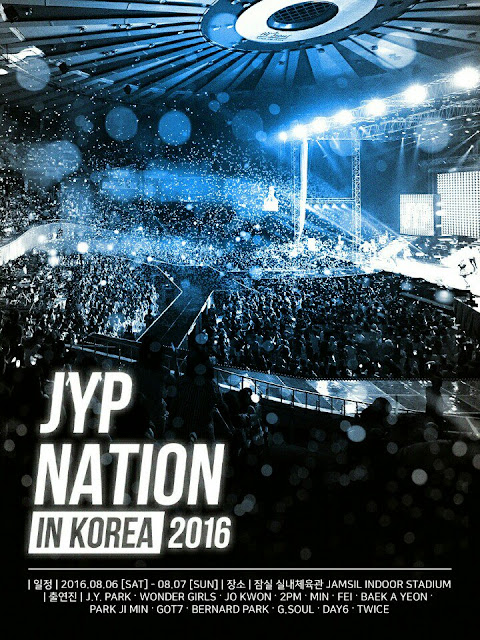 JYP Nation in Korea 2016 Poster