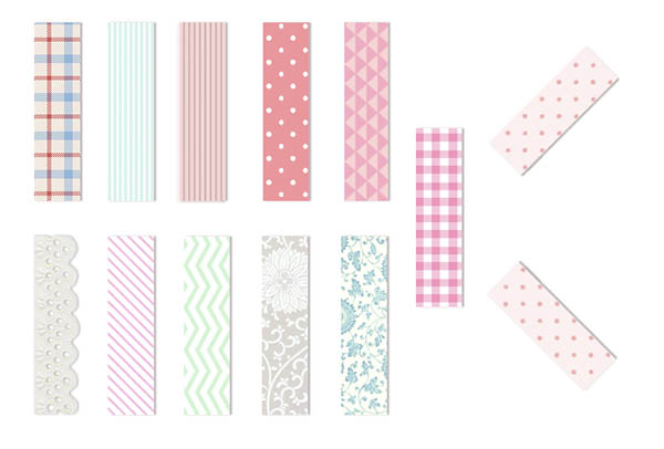 Freebie clipart washi tape