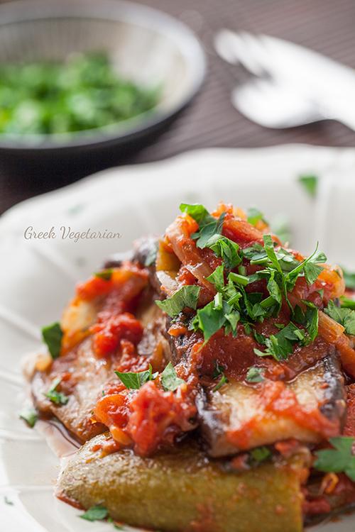 Greek Vegetarian Imam Bayildi Limnian Style Eggplant Stew