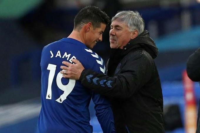 Ancelotti reveals James is happy at Everton dismisses transfer talk