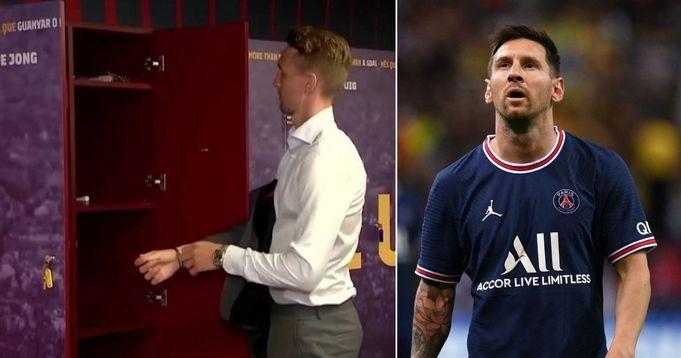 Barcelona new signing Luuk de Jong takes over Messi's locker