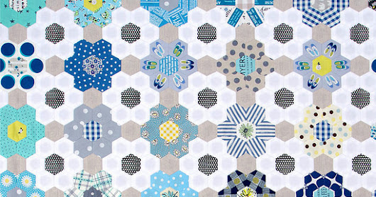 B is for Blues ~ A Hexagon Quilt | Part 2