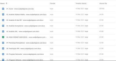 Daftar Lengkap Perangkat Pembelajaran Bahasa Indonesia Kelas 7 Kurikulum 2013 revisi 2021