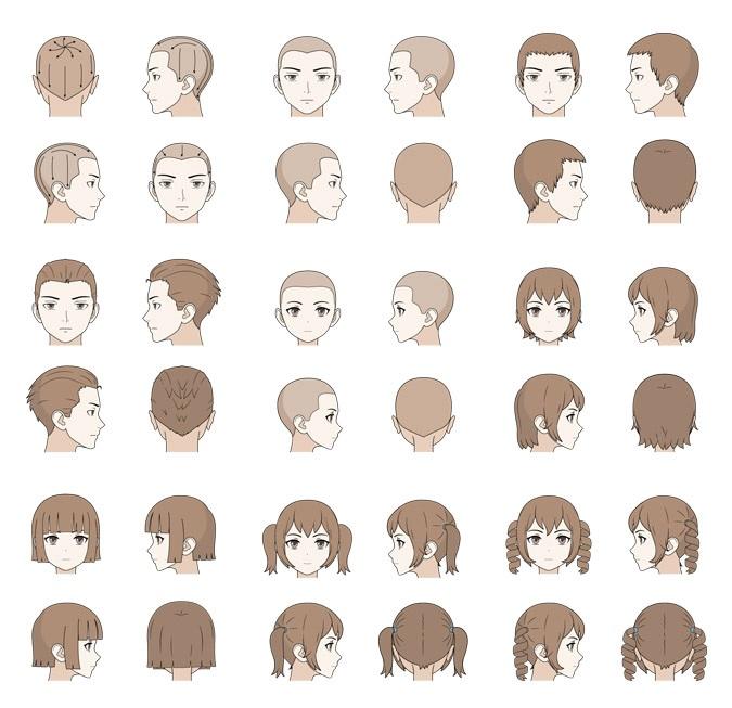 Cara Menggambar Rambut Pria & Wanita Pada Anime/Manga