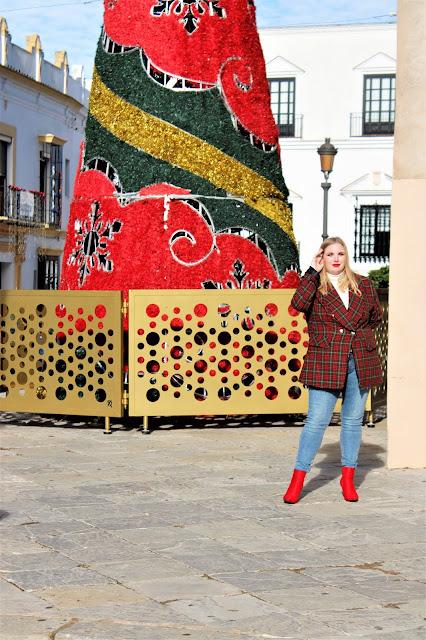 feliz_navidad_en_shein_blazer_tartan_lachicadelmilenio
